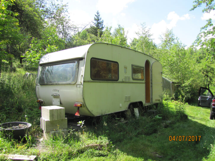 Wohnwagen f r garten baustelle biete tabbert wohnwagen for Garten 70er jahre