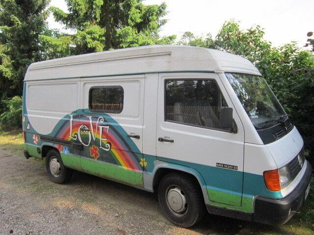 mb 100 kutter mit lkw zulassung ausgebaut zum wohnmobil hippie h tte. Black Bedroom Furniture Sets. Home Design Ideas