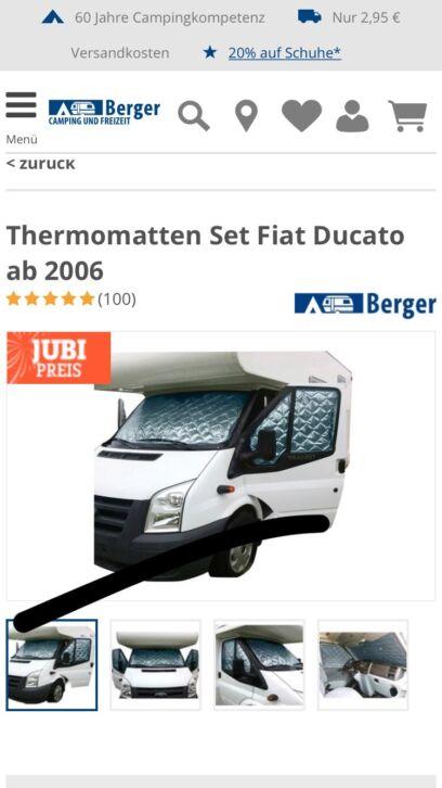 thermomatte innen fiat ducato ab bj 15 fahrerhaus. Black Bedroom Furniture Sets. Home Design Ideas