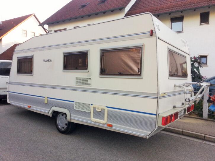 Wohnwagen Etagenbett Sicherung : Wohnwagen wohnanhänger frankia 495 mit großem marbella vorzelt 5